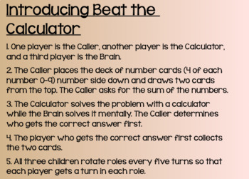 Everyday Math Lesson 5-1: Playing Beat the Calculator