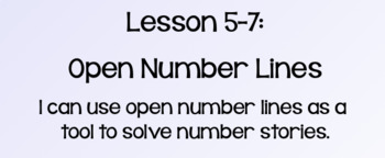 Everyday Math Lesson 5-7: Open Number Lines