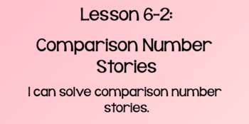 Everyday Math Lesson 6-2: Comparison Number Stories