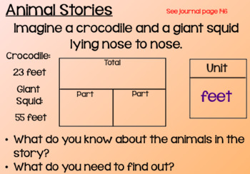 Everyday Math Lesson 6-4: Animal Number Stories