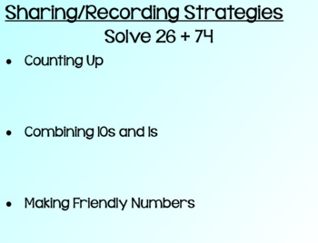 Everyday Math Lesson 6-6: Recording Addition Strategies