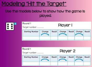 Everyday Math Lesson 7-1: Playing Hit the Target