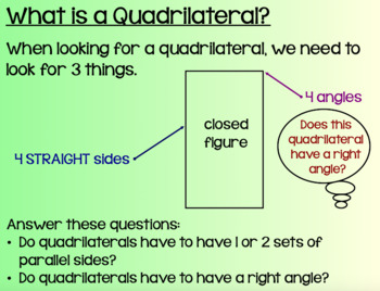 Everyday Math Lesson 8-4: Drawing and Reasoning about Quadrilaterals DAY 1