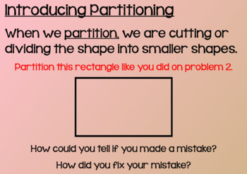 Everyday Math Lesson 8-6: Partitioning Rectangles, Part 1