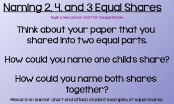 Everyday Math Lesson 9-1: Creating and Naming Equal Parts