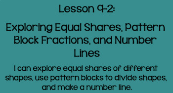 Everyday Math Lesson 9-2: Exploring Equal Shares, Fractions, and Number Lines