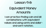 Everyday Math Lesson 9-8: Equivalent Money Amounts