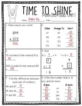 Everyday Math  Box Quizzes (Version 4) - Third Grade