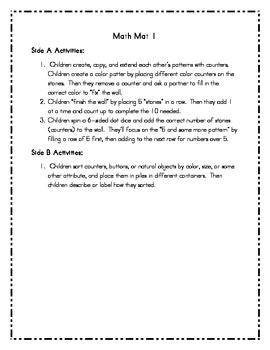 Everyday Math - Math Mat Activity Cards