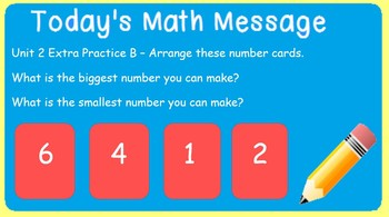 Everyday Math Messages for Third Grade - Editable