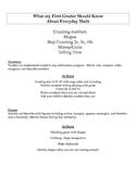Everyday Math- Parent Handout- Grade 1