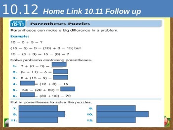 Everyday Math Power Point Lesson Unit: 10 Lesson: 12  Second Grade