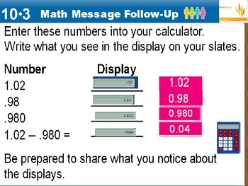 Everyday Math Power Point Lesson Unit: 10 Lesson: 3 Second Grade