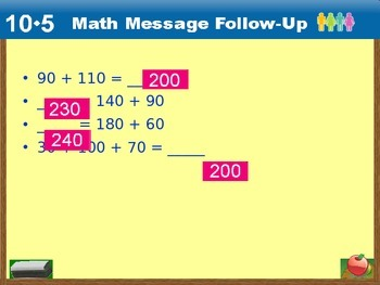 Everyday Math Power Point Lesson Unit: 10 Lesson: 5 Second Grade
