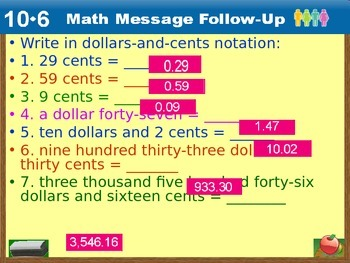 Everyday Math Power Point Lesson Unit: 10 Lesson: 6 Second Grade
