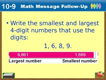 Everyday Math Power Point Lesson Unit: 10 Lesson: 9  Second Grade