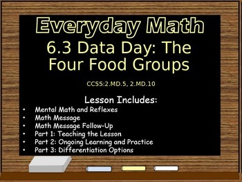 Everyday Math Power Point Lesson Unit: 6 Lesson:3 Second Grade
