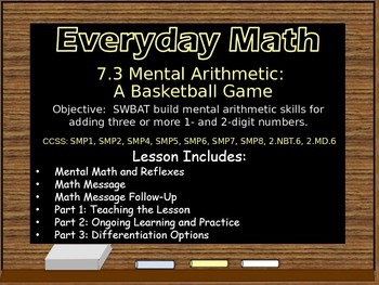 Everyday Math Power Point Lesson Unit: 7 Lesson:3 Second Grade