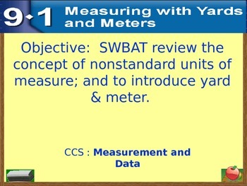 Everyday Math Power Point Lesson Unit: 9 Lesson:1 Second Grade
