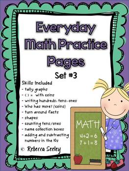 Everyday Math Practice Pages Set #3