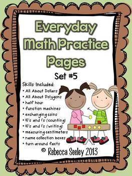 Everyday Math Practice Pages Set #5
