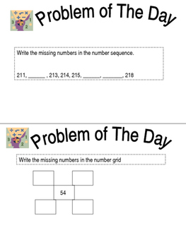 Everyday Math-Problem of the Day