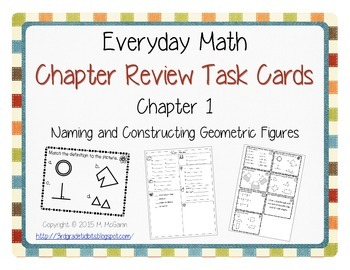 Everyday Math EM3 Review Task Cards - Chapter 1
