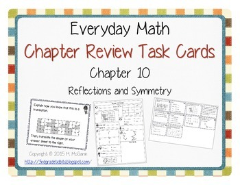 Everyday Math Review Task Cards - Chapter 10