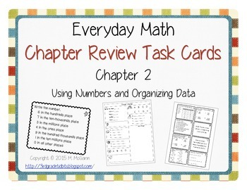 Everyday Math Review Task Cards - Chapter 2