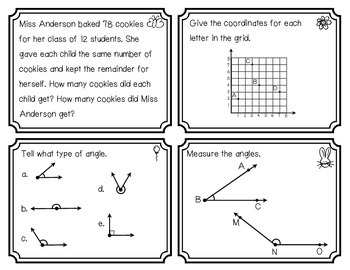 Everyday Math Review Task Cards - Chapter 6