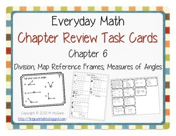 Everyday Math EM3 Review Task Cards - Chapter 6