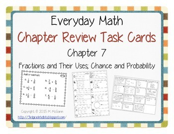 Everyday Math Review Task Cards - Chapter 7