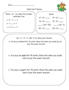 Everyday Math Review Unit 5