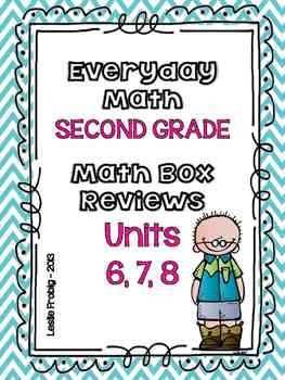 Everyday Math: Second Grade Math Box Reviews (Units 6, 7, and 8)