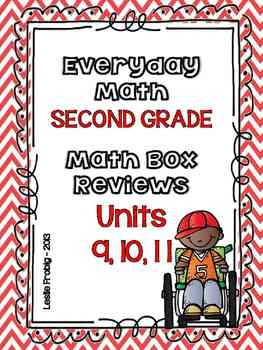 Everyday Math: Second Grade Math Box Reviews (Units 9, 10, and 11)