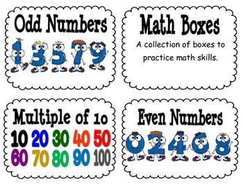 Everyday Math Second Grade Unit 1 MINI Vocabulary Cards
