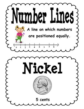 Everyday Math Second Grade Unit 1 Vocabulary Cards