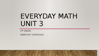 Everyday Math Second Grade Unit 3 Powerpoint