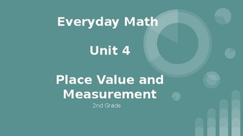 Everyday Math Second Grade Unit 4 Powerpoint