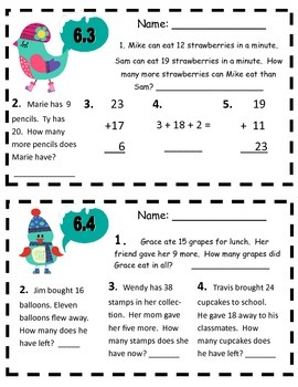 Everyday Math Second Grade Unit 6 Morning Work Pack
