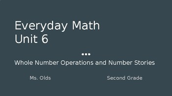 Everyday Math Second Grade Unit 6 Powerpoint