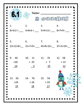 Everyday Math Second Grade Unit 6 Practice Sheets