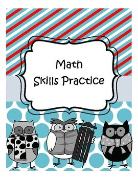 Everyday Math Skills Practice Homework Worksheet Packet Second and Third Grade