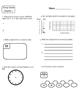Everyday Math Study Guides Third Grade