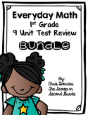 Everyday Math Test Review for All 9 Units First Grade