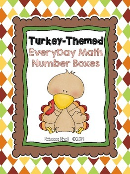 Everyday Math - Thanksgiving Turkeys Number Collection Boxes