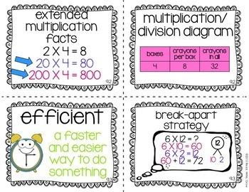 Everyday Math Grade 3 Vocabulary Word Wall {BUNDLE}