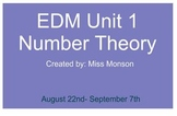 Everyday Math Unit 1 - Fifth Grade