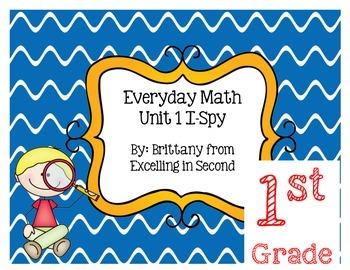 Everyday Math Unit 1 I-Spy Game for 1st grade