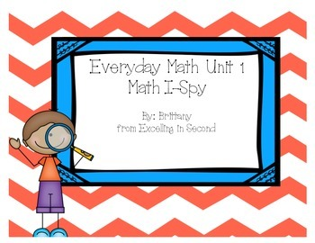 Everyday Math Unit 1 I-Spy Game for 2nd grade